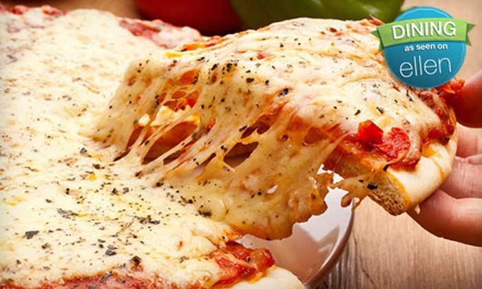 Eddie's Pizza - Lake Ronkonkoma: Pizza Meal with Two Pizzas, Garlic Knots, and Soda or $30 for $60 Worth of Italian Catering from Eddie's Pizza in Lake Ronkonkoma