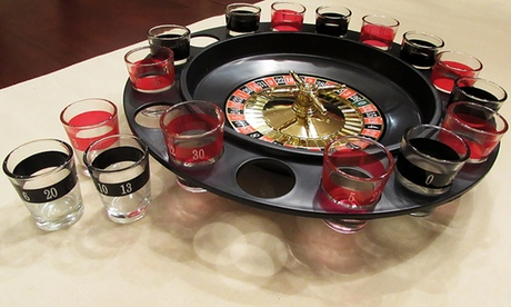 Evelots Casino Style Roulette Drinking Game With 2 Balls and 16 Shot Glasses 8f4d4326-455e-11e7-8118-00259060b5da