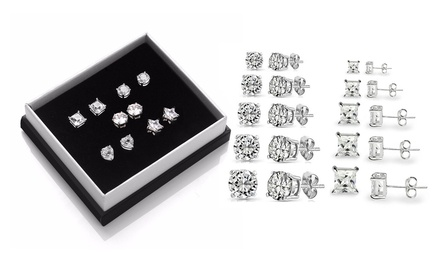 Five Pack of Earrings made with Zircons from Swarovski from AED 99