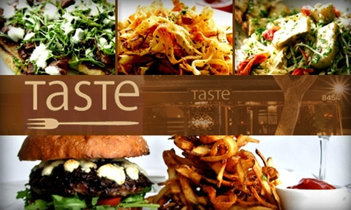 Taste - Multiple Locations: $50 Worth of Upscale Comfort Food at Taste