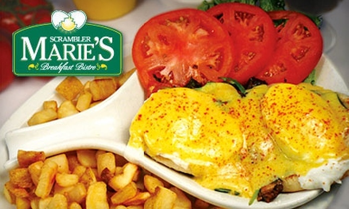 Scrambler Marie's - Multiple Locations: $5 for $10 Worth of Classic Breakfast, Brunch, Lunch, and Beverages at Scrambler Marie's