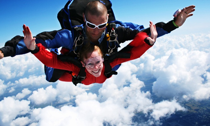 Skydive Tampa Bay - Mulberry: $130 for One Tandem-Jump Package with a T-shirt at Skydive Tampa Bay in Mulberry ($220.40 Value)