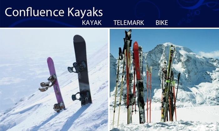Confluence Kayaks - Highland: $45 for Ski or Snowboard Tune-Up Package at Confluence Kayaks