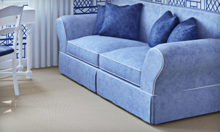 KC Carpet & Upholstery Cleaners - Center City West: Carpet or Upholstery Cleaning from KC Carpet & Upholstery Cleaners (Up to 63% Off). Three Options Available.