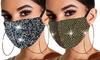 Crystal Glitter Rhinestone Face Mask