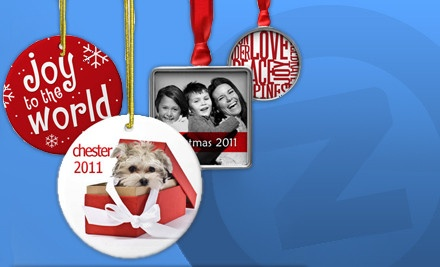 $50 Groupon for Customizable Holiday Ornaments - Zazzle.com in