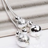 Sterling Silver-Plated Ball Drop Earrings