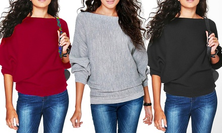 Women's Oversized Rib Jumper: One ($15) or Two ($25)