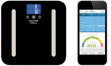 One (AED 239) or Two (AED 465) Salter Mibody Bluetooth Digital Analyser Personal Scales