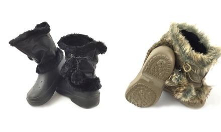 Damen-Gummistiefel in Schwarz oder Khaki