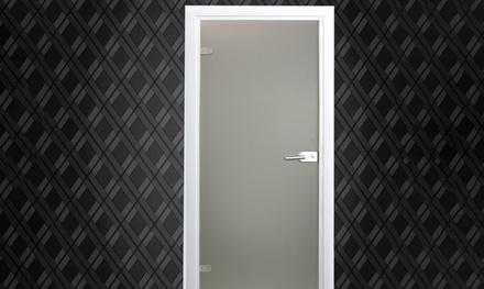 Home Deluxe Glastür aus Klar- oder Milchglas in der Größe nach Wahl (Frankfurt)