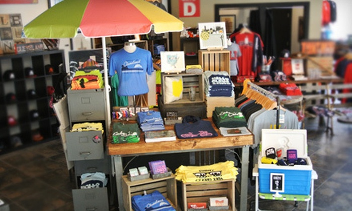 CLE Clothing Co. - Downtown: Cleveland-Centric Apparel at CLE Clothing Co. (Half Off). Two Options Available.