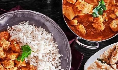 Menú hindú para 2 personas con entrante, principal, acompañamiento, postre y bebida desde 24,95 € en Tandoori Masala