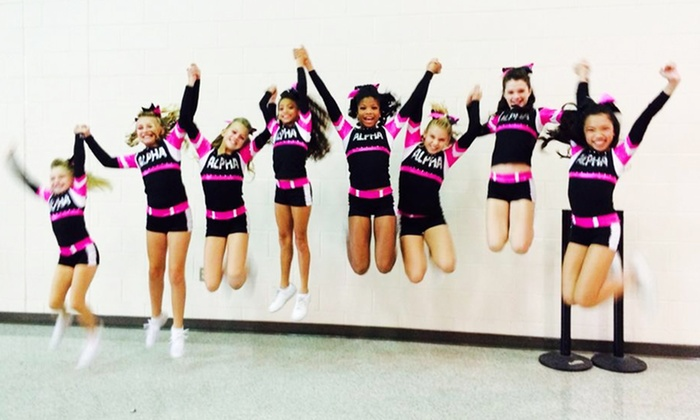 Alpha Athletics Cheerleading - South Chase: Eight Weeks of Cheer or Tumbling Classes at Alpha Athletics Cheerleading (Up to 52% Off). Two Sessions Available.