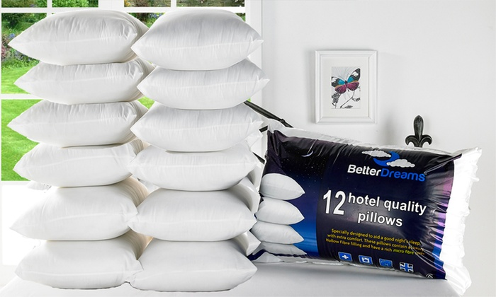 Twelve-Pack of Better Dreams Hotel-Quality Pillows from £23