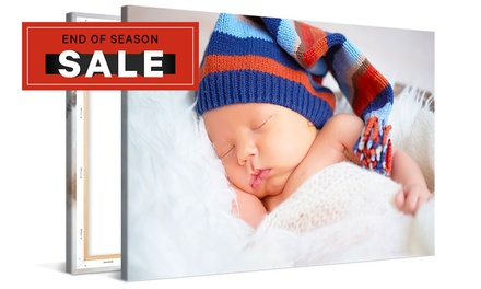 .99 for a Personalised Photo Canvas Print Don't Pay up to $233.80