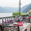 Menu gourmet più vino, vista lago