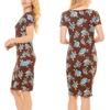 Seranoma Women's Short Sleeve Floral Dress.(Size L)