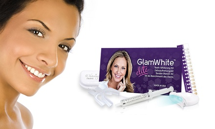 One or Two GlamWhite LED Teeth Whitening Kit from €9.99 (Up to 88% Off)