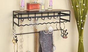Wall Mounted Jewelry Organizer Shelf