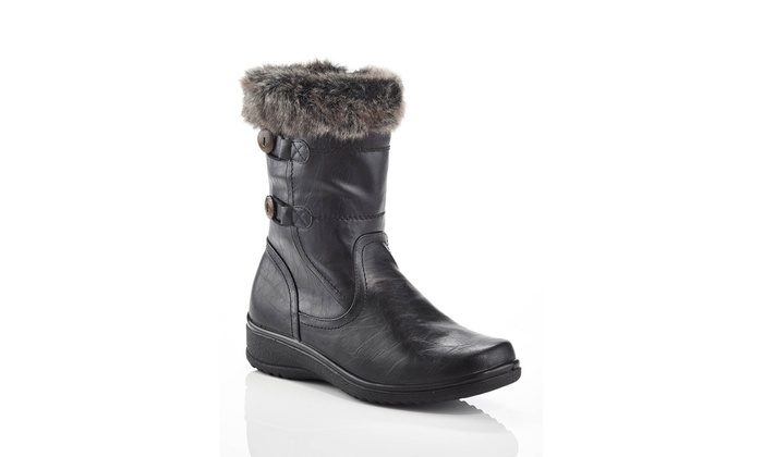 Wide-Width Mid-Calf Boots