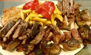 Latores: Menú para 2 con entrante, parrillada de 1 kg a compartir, postre y botella de sidra o vino desde 29,95 € en Latores