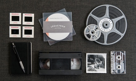 Media-Digitizing Services By Mail from Legacybox (Up to 76% Off). Four Options Available.