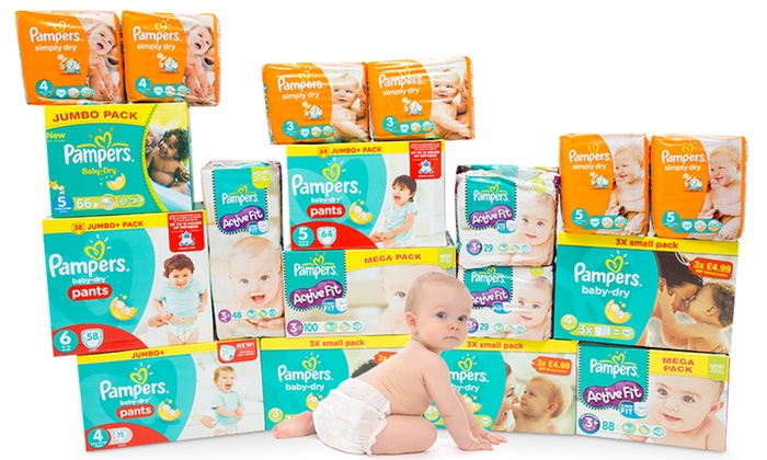 Pampers Nappies or Dry Pants in Choice of Sizes From £4.99