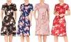 Haute Edition Women's Casual Floral Midi Dress. Plus Sizes Available.