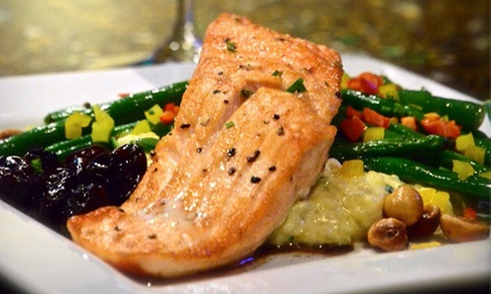 Vinotopia Restaurant & Winebar - Multiple Locations: $38 for an Upscale American Meal for Two on the Weekends or on Weekdays at Vinotopia (Up to $76.70 Value)
