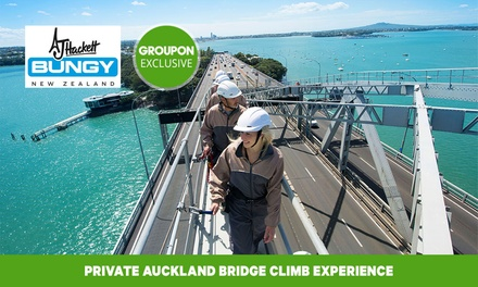 Auckland Harbour Bridge Climb for One ($95), Two ($190) or Four People ($380) with AJ Hackett Bungy NZ (Up to $478.56)