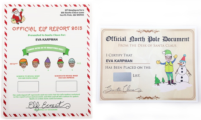 SillyWise: Elf Reports and Nice List Certificates from Sillywise.com (1, 2, 3, or 4 Sets)
