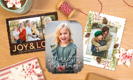 up to 74 off on custom holiday photo cards groupon goods - Office Depot Christmas Cards