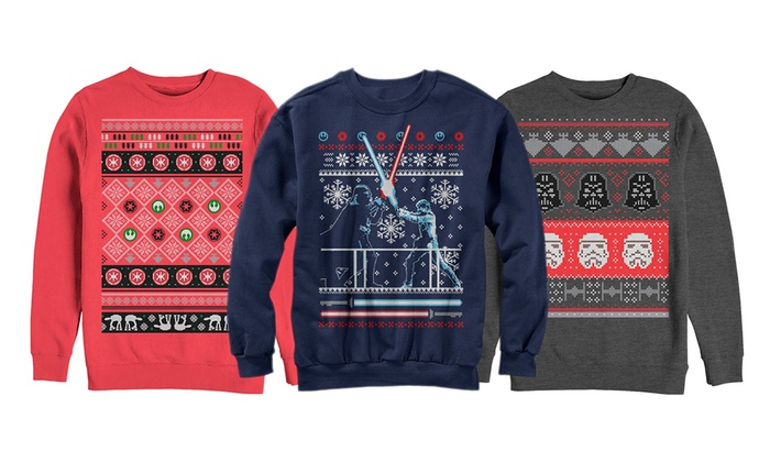 Star Wars Men's Ugly Christmas Sweater Fleece Sweatshirts