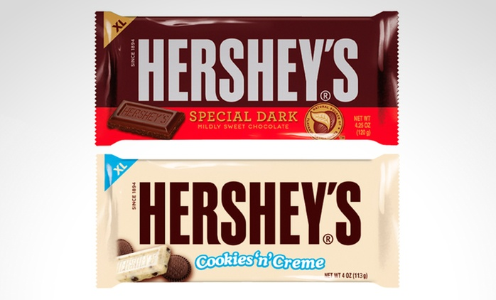 Desde $179 en vez de $300 por tabletas de chocolate Hershey's a elección con delivery o retiro