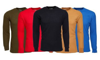 2 Pack Vertical Sport Men's Waffle-Knit Thermal Shirts (S-2XL)