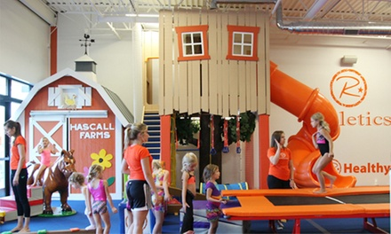 5 or 10 Kids' Open-Gym Sessions at R-Athletics (Up to 51% Off)