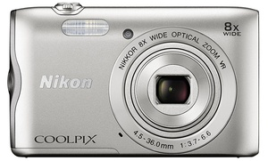 Nikon Coolpix A300 20.1MP 720p Digital Camera (Refurbished)