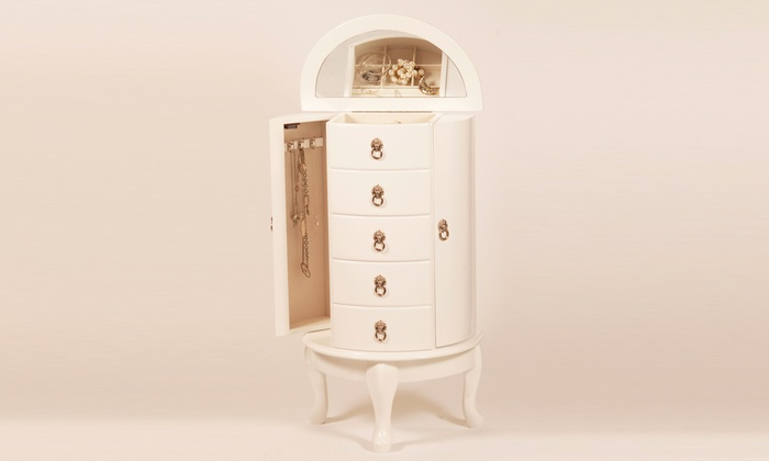 Up To 50 Off Mele And Co Jewellery Armoire Groupon