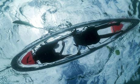 Paseoen kayak transparente en Playa de Las Canteras para 2, 4 o 6 personas edesde 24,95 € en Salitre Sport