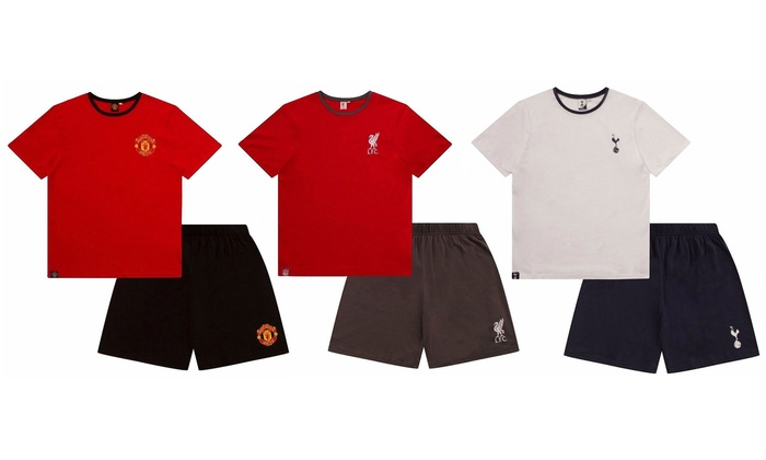 Men's Officially Licensed Football Short Pyjama Set from £9.95