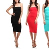 2 Pack Solid Tube Top Dress. Free Shipping.