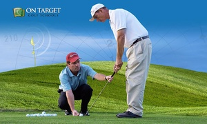 On Target Golf Schools: Golf Swing and Game Improvement Packaages at John Bertges' On Target Golf Schools (Up to 62% Off). Three Options Available.