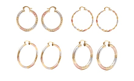 Tricolor Hoop Earrings