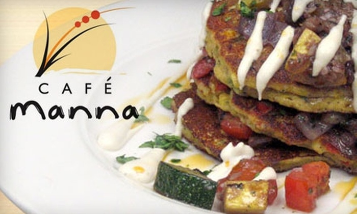 Café Manna - Brookfield: $15 for $30 Worth of Vegetarian Fare and Drinks at Café Manna