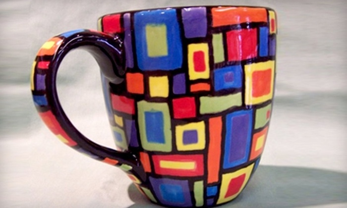 Paint Pots Ceramic Studio - Hillsdale: $30 for $60 Credit for Up to Four People at Paint Pots Ceramic Studio