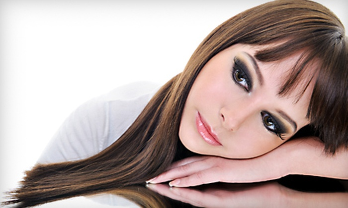 Salon Fantasy - Beresford Park: Women's Haircut, Haircut-and-Color Package, or a Japanese Thermal Straightening Treatment at Salon Fantasy in San Mateo