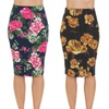 High Waist Slimming Midi Skirt. Plus Sizes Available.