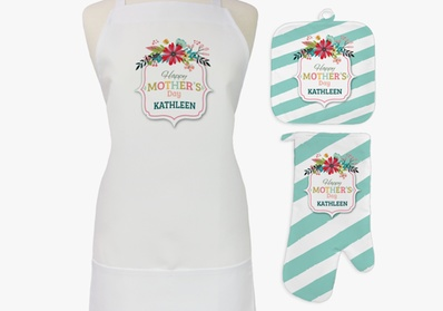 One or Two Sets of Personalized Aprons, Potholders, and Oven Mitts from Monogram Online (Up to 82% Off) photo