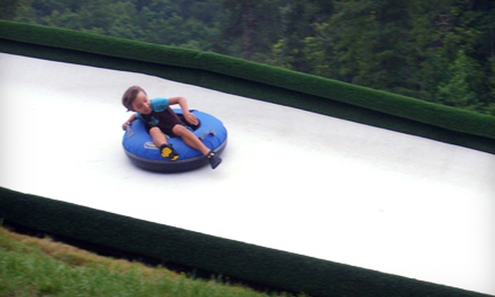 Cherokee Valley Ranch - Jasper : Ziplining and Dry-Snow Tobogganing Package for One, Two, or Four at Cherokee Valley Ranch in Jasper (Up to 62% Off)